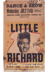 Little Richard Poster before restoration