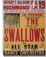 Swallows concert poster