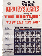 Beatles no more Hard Days Night promo poster