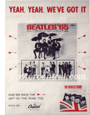 Beatles 65 promo poster